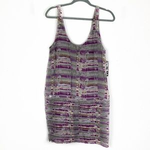 Hurley S Textured lavender & grey Tank-top Dress